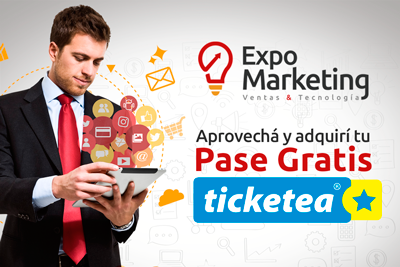 Obtené tu pase gratis a la Expo Marketing