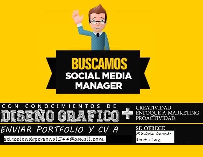Nueva oferta laboral para Social Media Manager