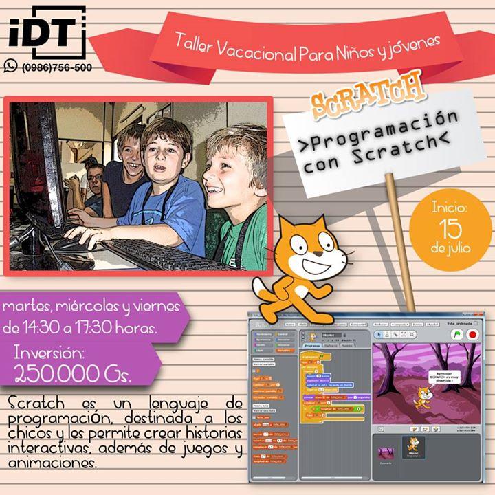 Taller de Programación con Scratch para niños y adolescentes