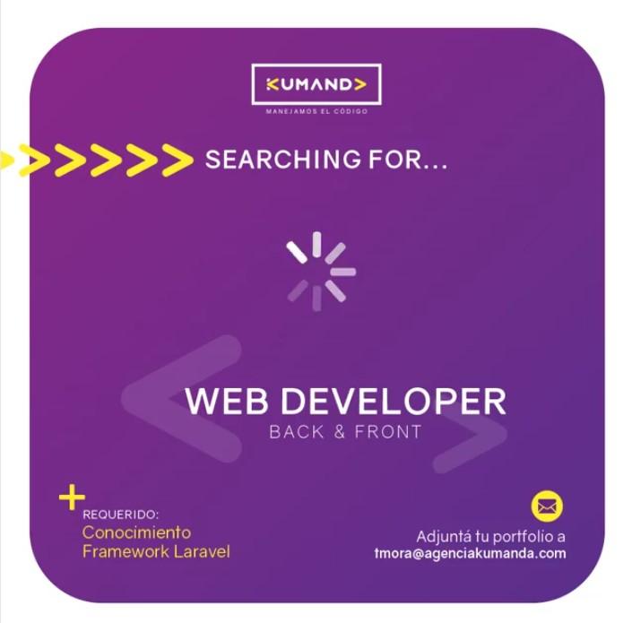 Oferta Laboral para Web Developer